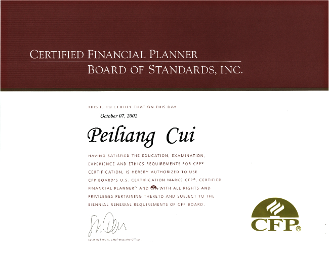 Qualifications Cuis Financial Group